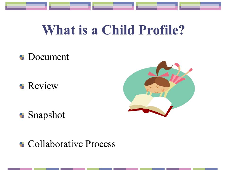 What is a Child Profile Document Review Snapshot