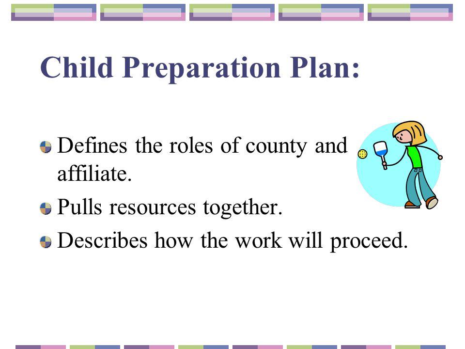 Child Preparation Plan: