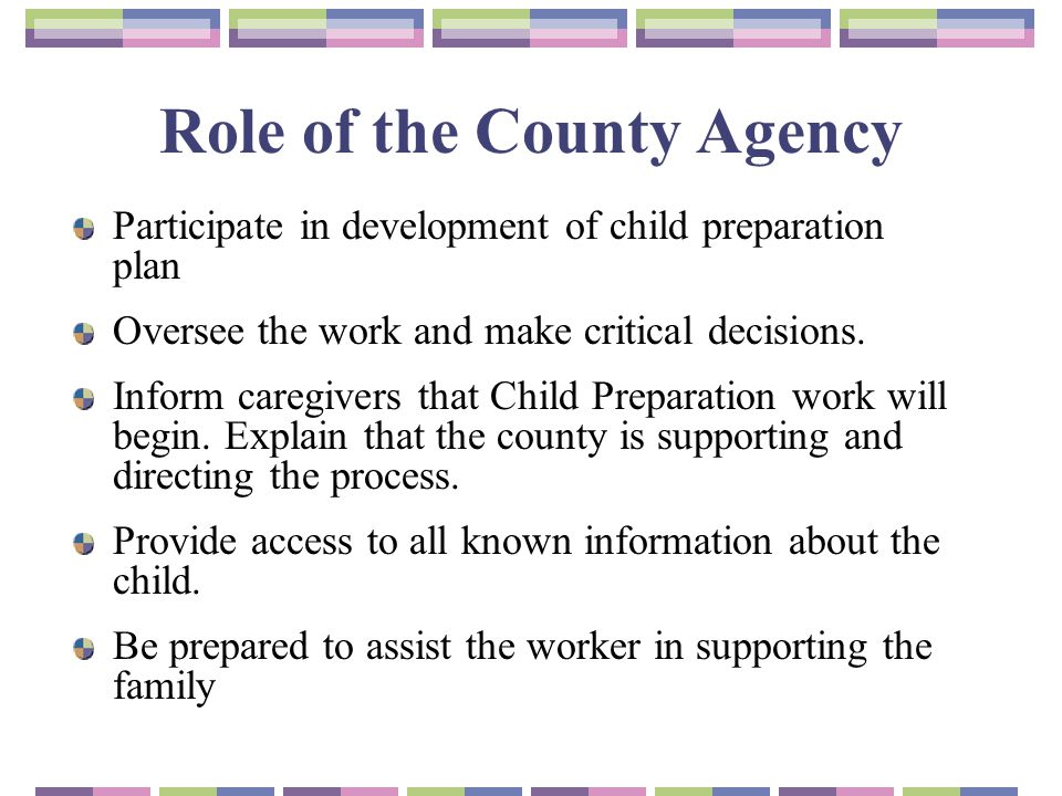 Role of the County Agency