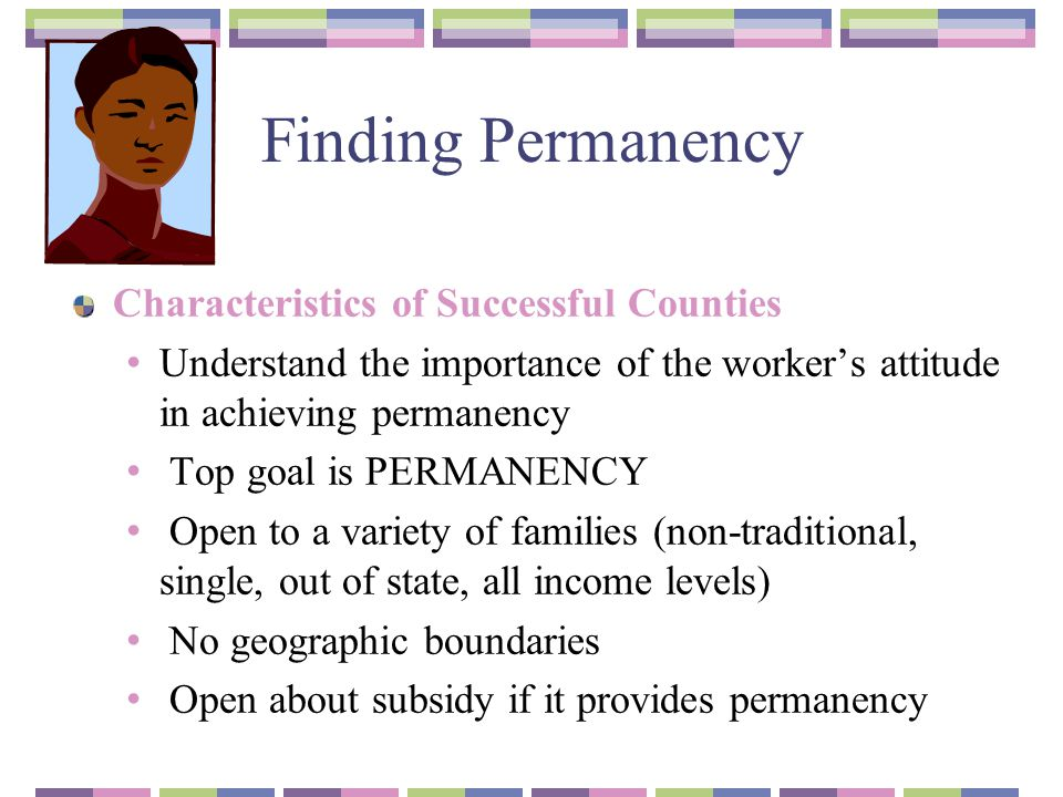 Finding Permanency Characteristics of Successful Counties