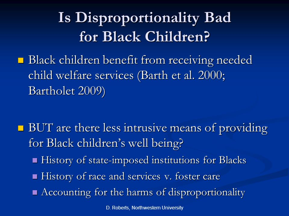 Is Disproportionality Bad for Black Children