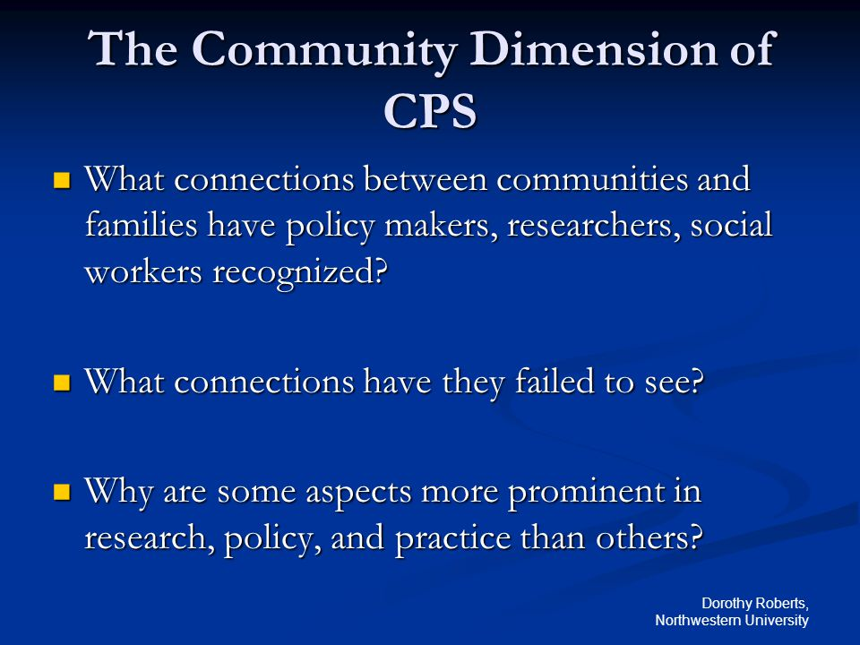 The Community Dimension of CPS