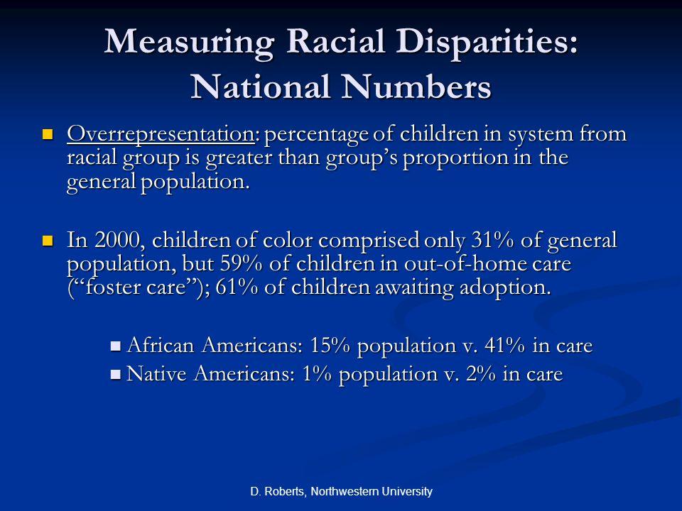 Measuring Racial Disparities: National Numbers