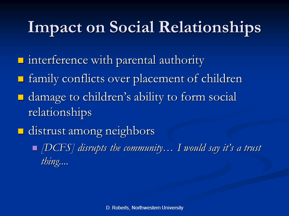 Impact on Social Relationships