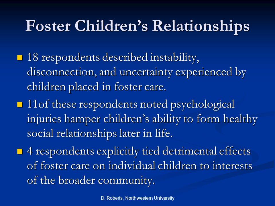 Foster Children's Relationships