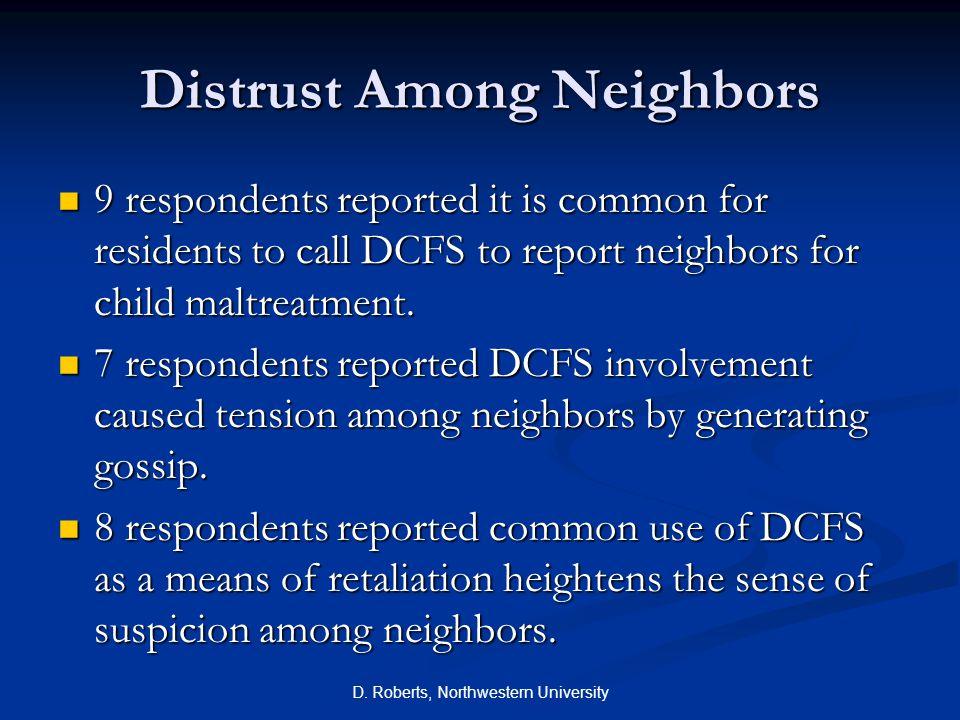 Distrust Among Neighbors