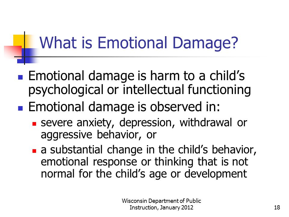 What is Emotional Damage