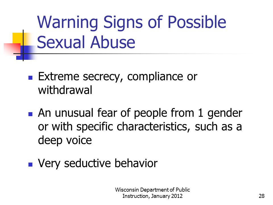 Warning Signs of Possible Sexual Abuse