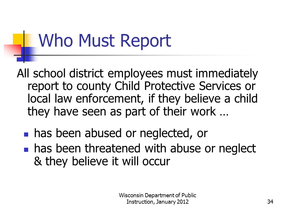 Wisconsin Department of Public Instruction, January 2012
