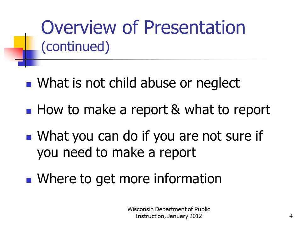 Overview of Presentation (continued)