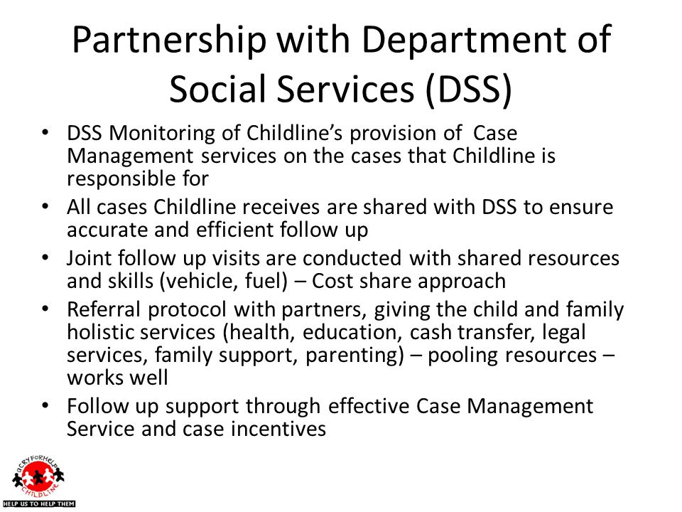 Partnership with Department of Social Services (DSS)
