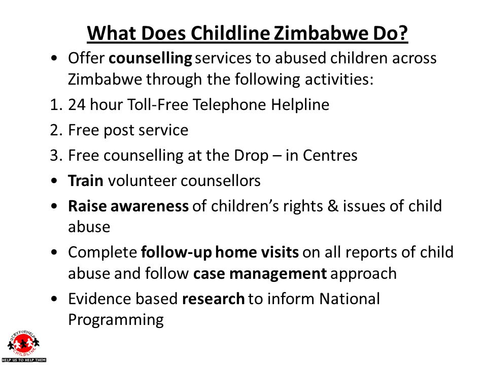 What Does Childline Zimbabwe Do