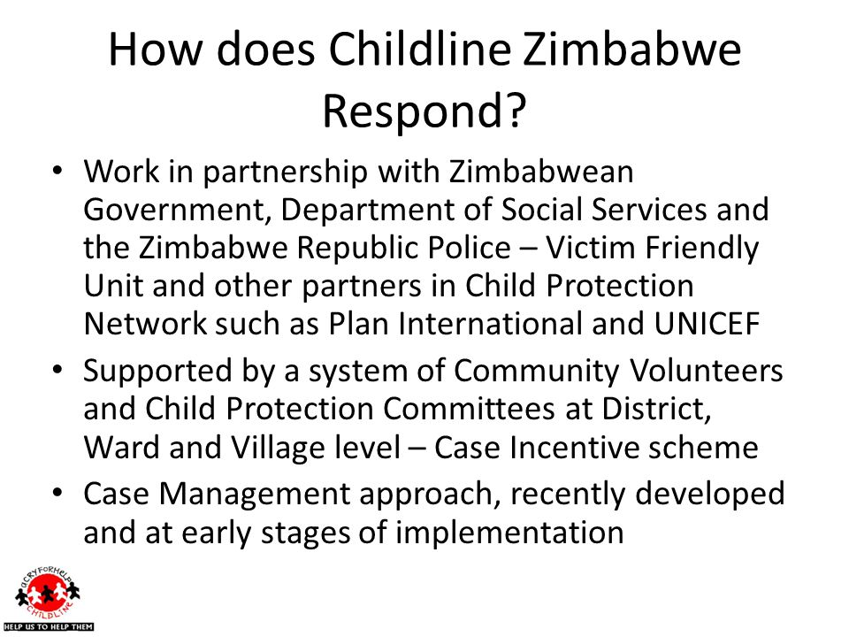 How does Childline Zimbabwe Respond