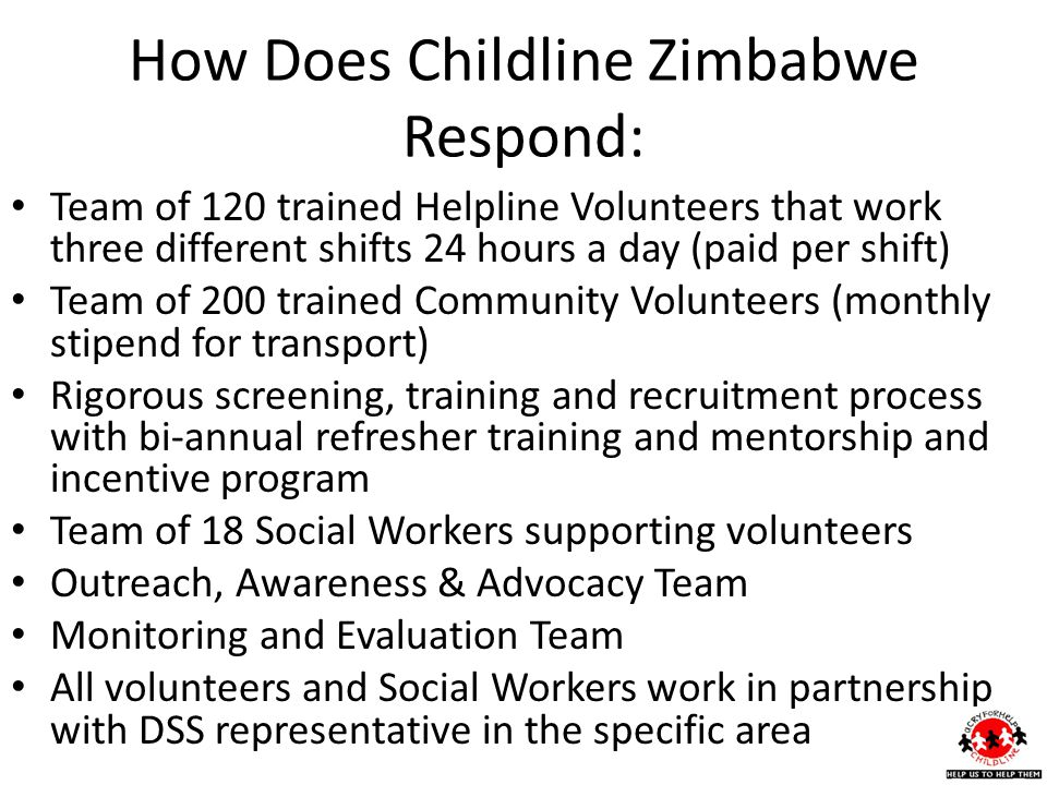 How Does Childline Zimbabwe Respond: