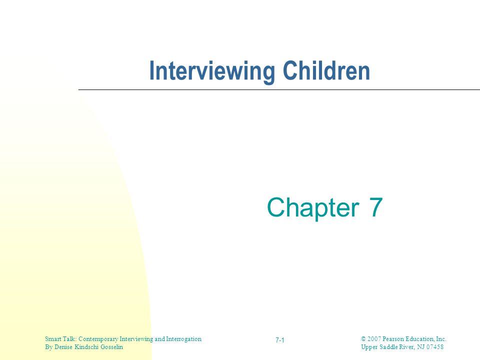 Interviewing Children