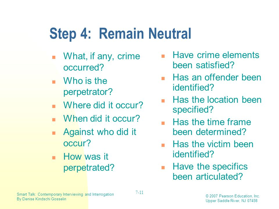 Step 4: Remain Neutral What, if any, crime occurred