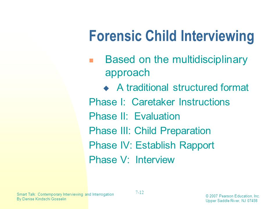 Forensic Child Interviewing