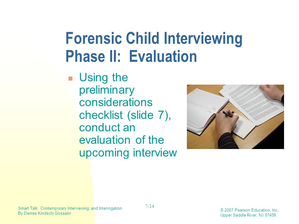 Forensic Child Interviewing Phase II: Evaluation