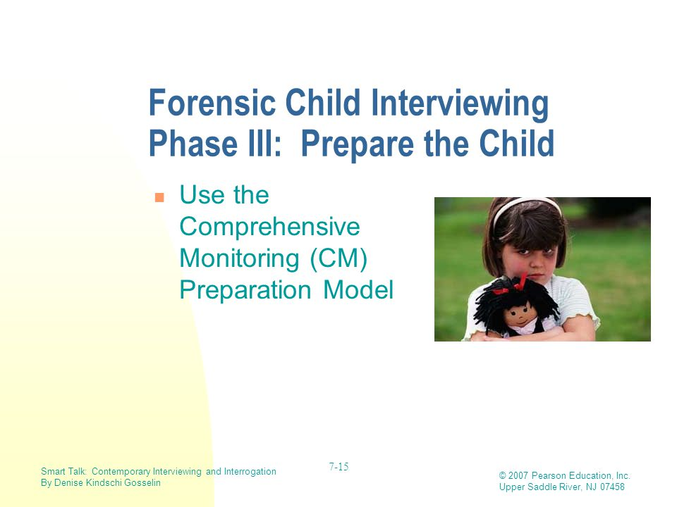 Forensic Child Interviewing Phase III: Prepare the Child