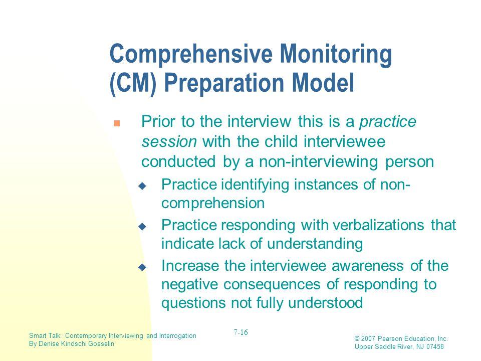 Comprehensive Monitoring (CM) Preparation Model