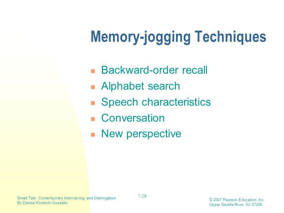 Memory-jogging Techniques