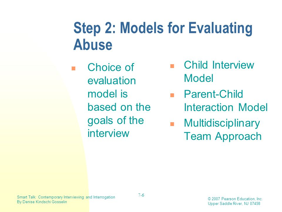 Step 2: Models for Evaluating Abuse