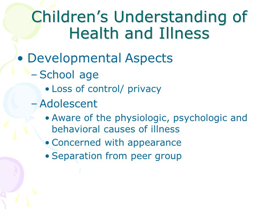 Children's Understanding of Health and Illness