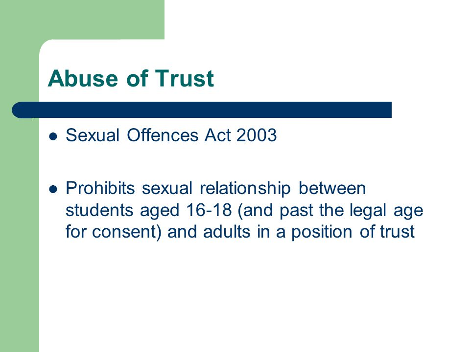 Abuse of Trust Sexual Offences Act 2003