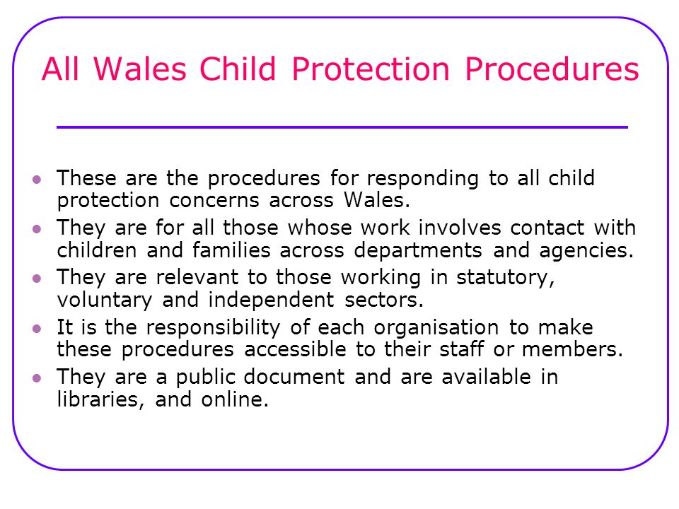 All Wales Child Protection Procedures