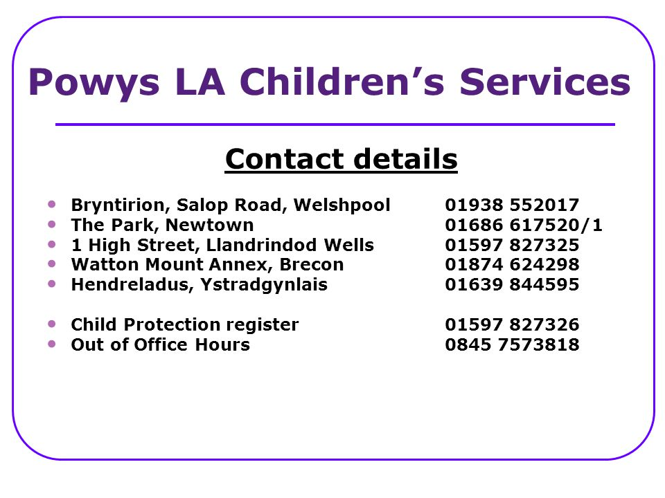 Powys LA Children's Services