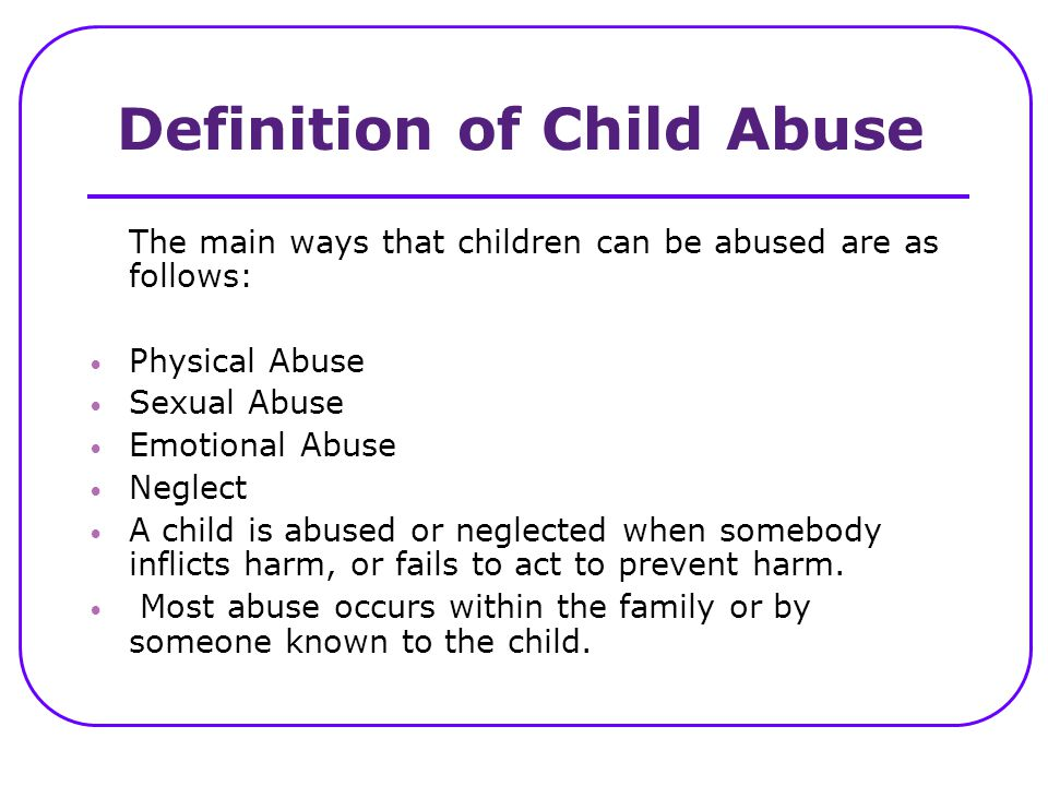 Definition of Child Abuse