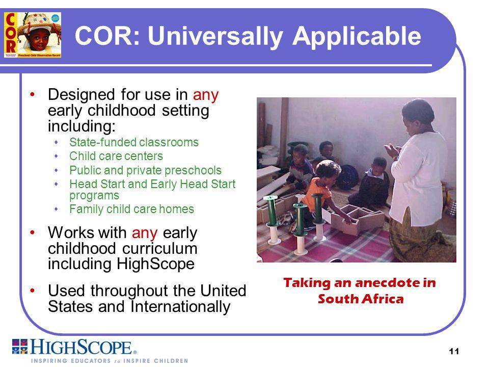 COR: Universally Applicable