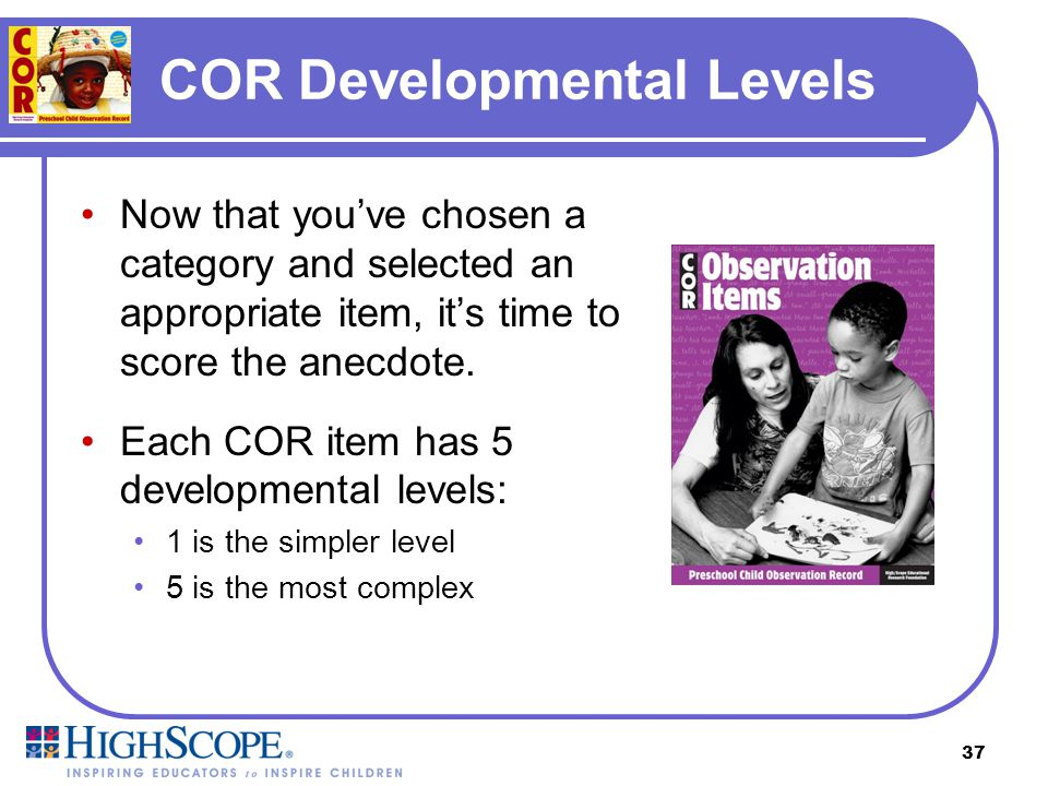 COR Developmental Levels