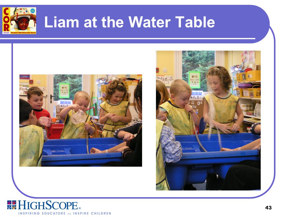 Liam at the Water Table