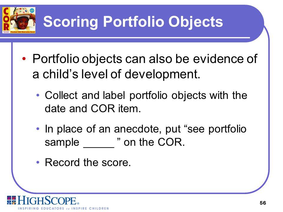 Scoring Portfolio Objects