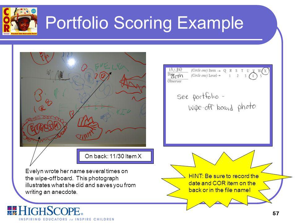 Portfolio Scoring Example