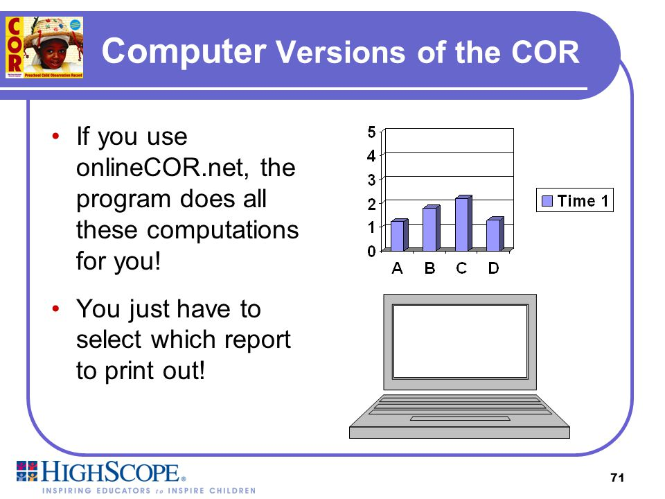 Computer Versions of the COR