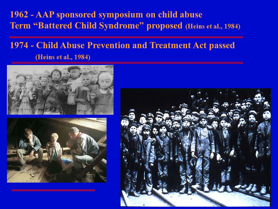 1962 - AAP sponsored symposium on child abuse