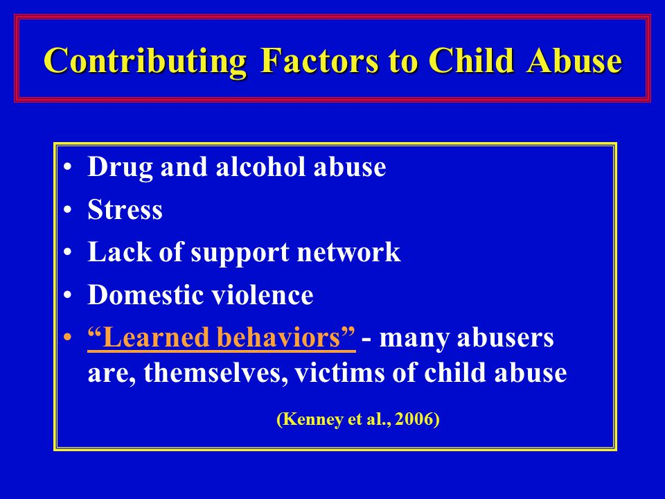 Contributing Factors to Child Abuse