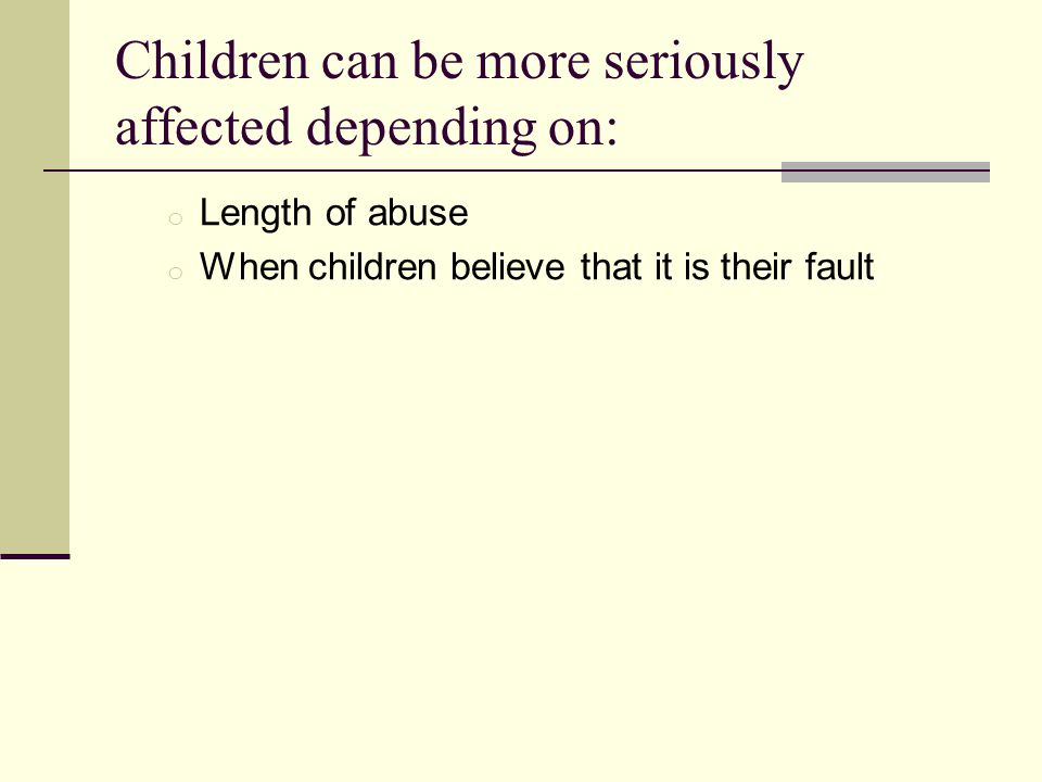 Children can be more seriously affected depending on: