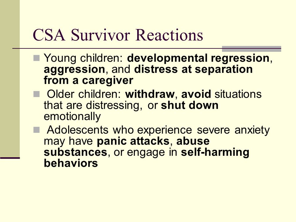 CSA Survivor Reactions