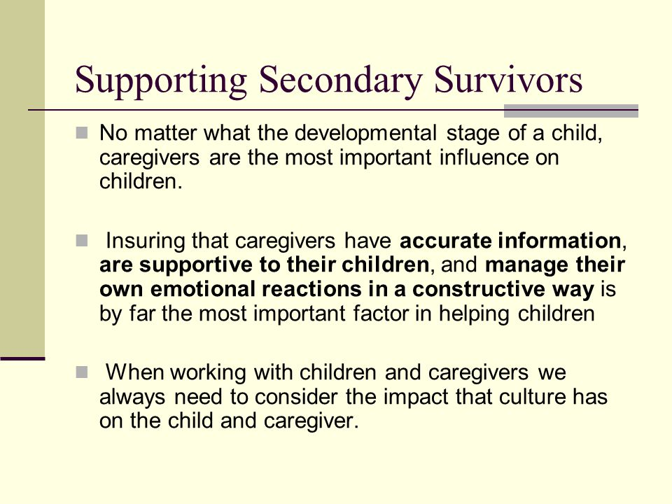 Supporting Secondary Survivors