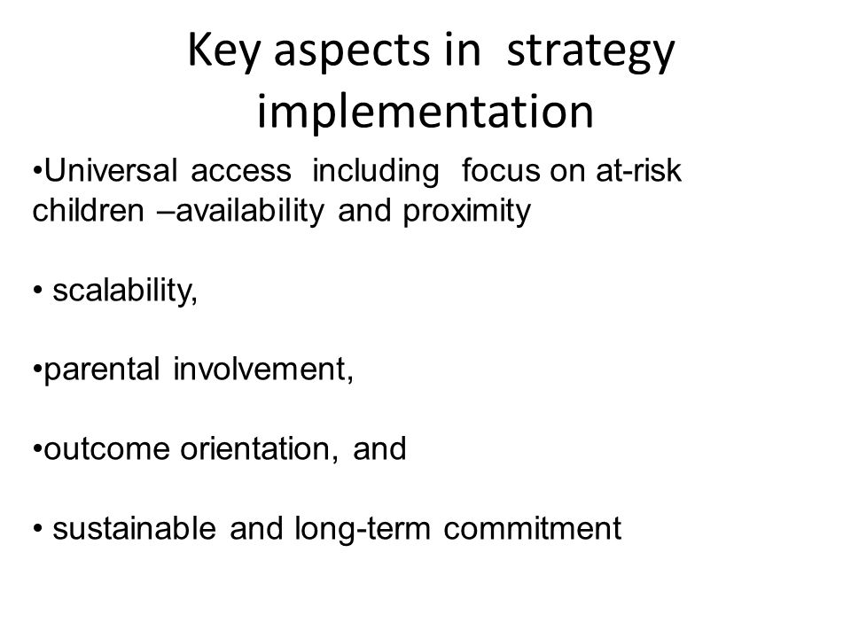 Key aspects in strategy implementation