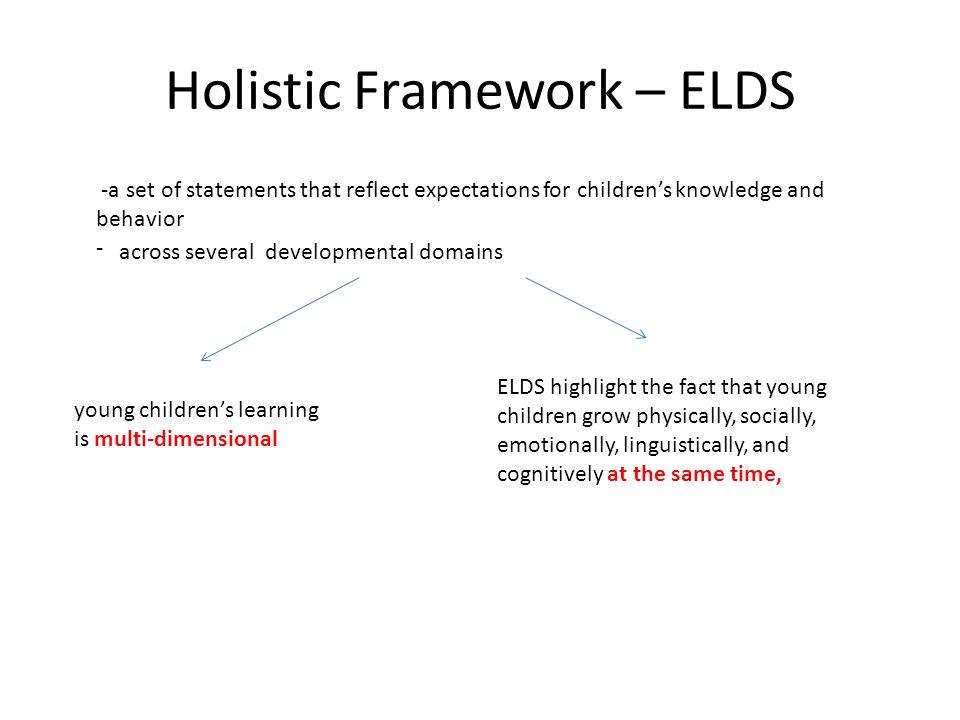 Holistic Framework – ELDS