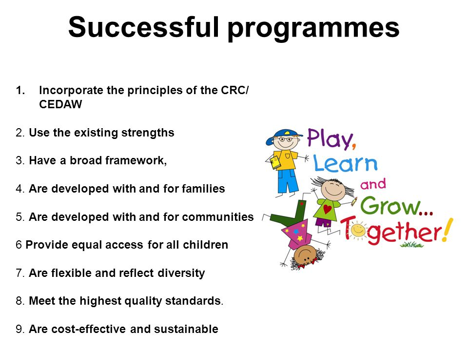 Successful programmes