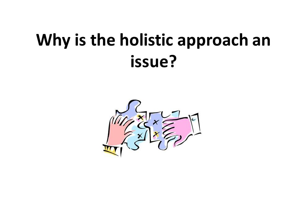 Why is the holistic approach an issue