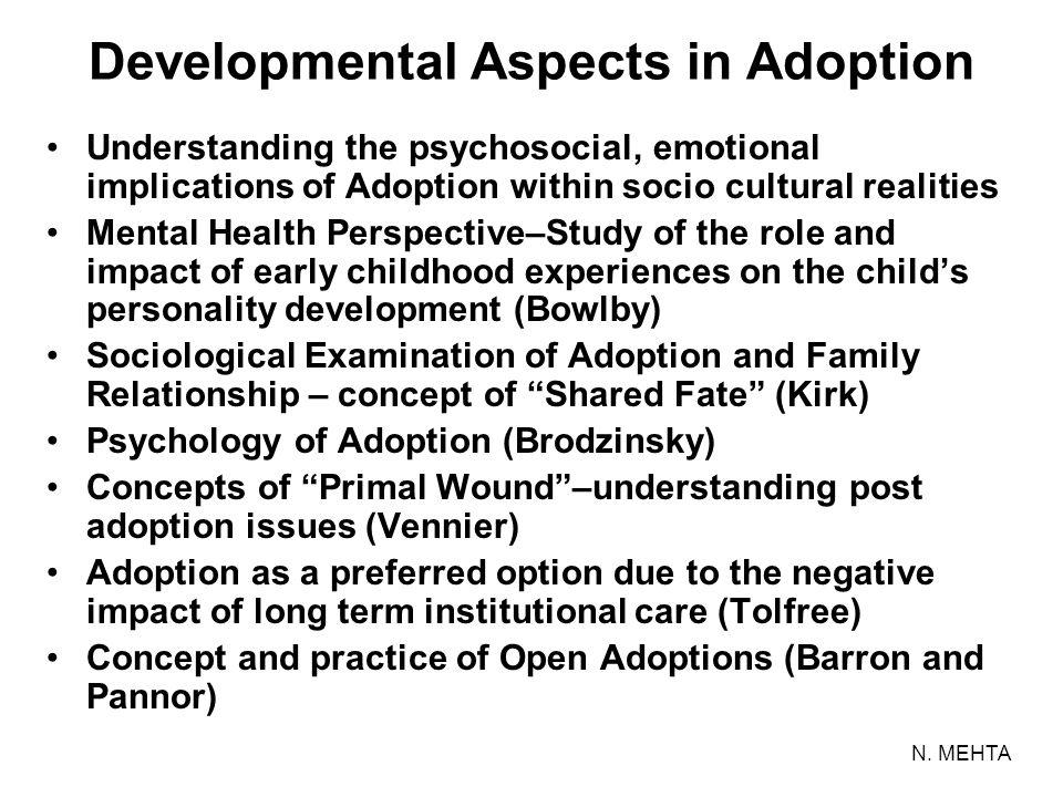 Developmental Aspects in Adoption