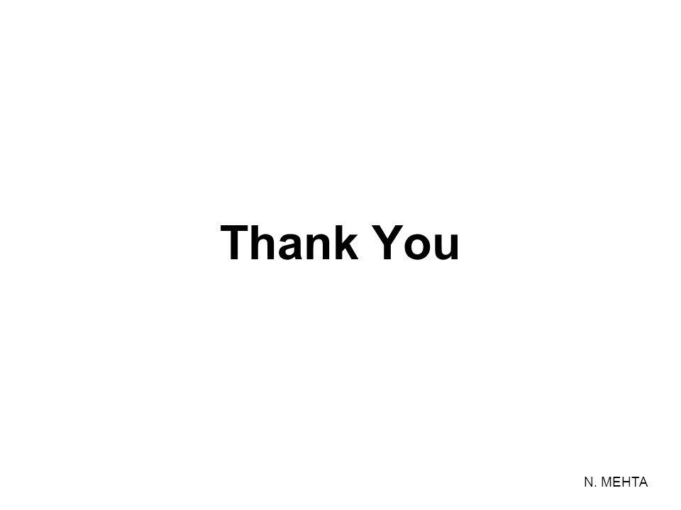 Thank You N. MEHTA