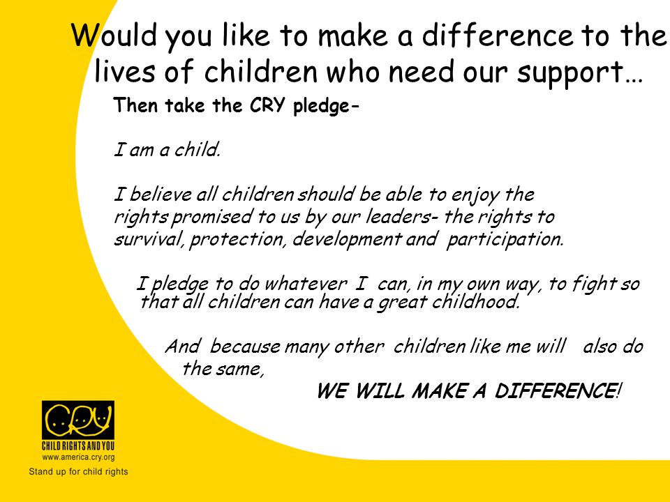 Would you like to make a difference to the lives of children who need our support…