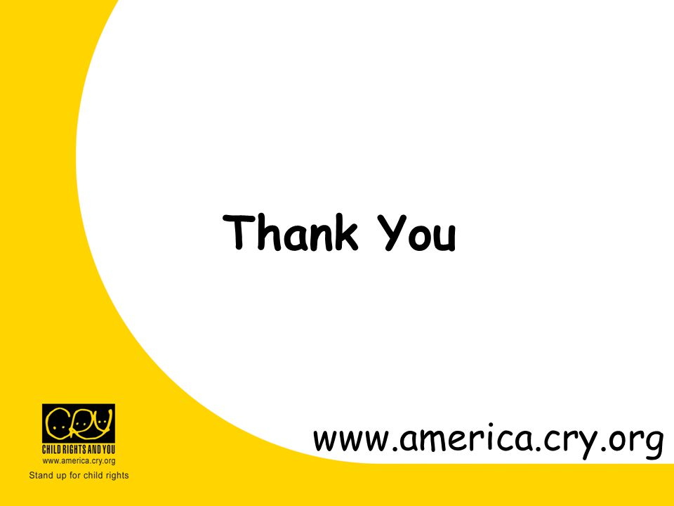 Thank You www.america.cry.org
